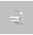 MPEG computer symbol vector image