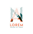na modern logo design with orange and green color vector image vector image