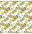 olive pattern seamless background with olive vector image vector image