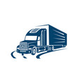 on road truck logo design heavy vector image vector image
