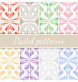 Pastel Seamless Patterns Set vector image