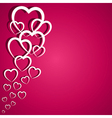 pink heart greeting card vector image vector image