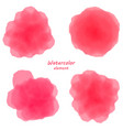 pink watercolor blotch set of pinl watercolor vector image