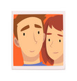 portrait loving man and woman couple in love vector image vector image