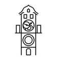 prague astronomical clock isolated icon simple vector image