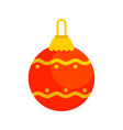 red decorative christmas ball vector image vector image
