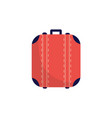red suitcase bag isolated on white background vector image vector image