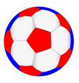 red white and blue football vector image vector image