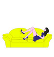 relaxing on the couch vector image