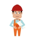 repairman character working icon vector image