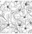 sakura flowers seamless pattern texture background vector image vector image