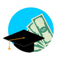 scholarship or study grant icon flat vector image vector image