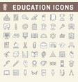 school and education thin line icons with fill vector image