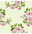 seamless texture branch white hibiscus tropical vector image vector image
