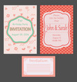 set invitations vector image vector image