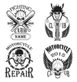 Set logos motorcycle labels badges and design el vector image vector image