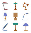 set of table lamp icon vector image vector image