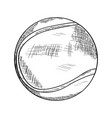 sketch of a tennis ball vector image