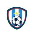 soccer fever vintage shield stripes footbal club vector image vector image