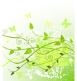 spring in green vector image