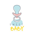 sweet baby logo colorful hand drawn vector image vector image