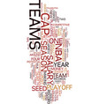 team record under no problem in the nbs text vector image vector image