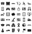 telephone icons set simple style vector image vector image