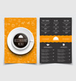 templates 2 a4 pages menu with drawings of hands vector image vector image