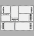 ticket templates blank admit one festival concert vector image