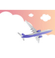 travel background with airplane and sky with cloud vector image vector image