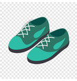 turquoise shoes with laces isometric icon vector image vector image