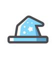 witch hat halloween cap icon cartoon vector image