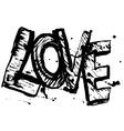 love letters black sketch Vintage Poster vector image