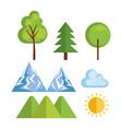 seasonal weather set icons vector image