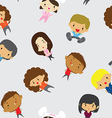 Cartoon Boys Girls pattern including seamless vector image
