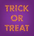 trick or treat halloween creative typography vector image