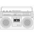 Vintage cassette recorder ghetto blaster boombox vector image