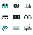 Music logos set vector image