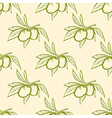 Seamless pattern with green olives vector image