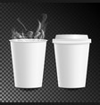 3d coffee paper cup hot drink collection vector image vector image