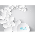 abstract background with white 3d paper flower
