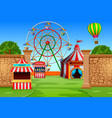 amusement park scene at daytime vector image