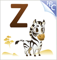 Animal alphabet for the kids Z for the Zebra vector image vector image