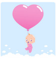 bagirl with balloon vector image vector image