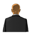 Bald man in suit from back or rear view vector image vector image