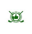 best golf logo icon design vector image