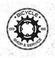 bicycle repair service round vintage emblem vector image vector image