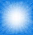 blue sunburst background vector image vector image