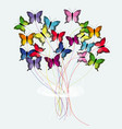 bouquet of butterflies vector image vector image