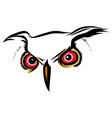 brown silhouette of an owl on a white vector image vector image